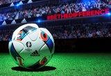 """Netrukus bus pristatytas oficialus UEFA Euro 2016 grupės varžybų kamuolys """"Beau Jeu"""""""