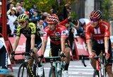 Skandalas prestižinėse lenktynėse: lyderis pateko į griūtį ir sulaukė automobilio pagalbos, pagrindiniai konkurentai apkaltino UCI
