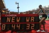 """""""Deimantinės lygos"""" varžybose Kenijos bėgikė B.Chepkoech pagerino pasaulio rekordą"""