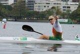 Lietuvos baidarių ir kanojų irkluotojai išbandė olimpinę trasą