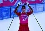 Lietuvos biatlonininkų debiutą žaidynėse apkartino jaudulys ir netikslūs šūviai
