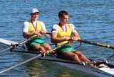 Dar trys lietuviai užsitikrino vietas pasaulio jaunimo irklavimo čempionato pusfinalyje