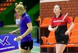 Europos badmintono čempionate lietuvės liko be pergalių