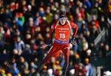 Pasaulio biatlono čempionate – puikus T.Kaukėno pasirodymas, V.Strolios karjeros rekordas ir drama dėl aukso