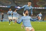 """Pergalę iškovojęs """"Man City"""" laikinai pakilo į """"Premier"""" lygos viršūnę"""