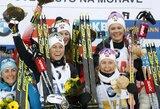 Pasaulio biatlono taurės etape – norvegių triumfas