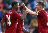 """6 įvarčius varžovams atseikėjęs """"Liverpool"""" draugiškose rungtynėse iškovojo triuškinamą pergalę"""