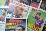"""Dar vienas L.Messi žingsnis atsisveikinant su """"Barca"""": kreipėsi į FIFA"""