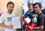 M.Pacquiao oficialiai pasirašė kontraktą su C.McGregorui atstovaujančia agentūra