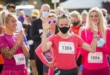 """Rekordiškai gausiame """"Pink run"""" bėgime triumfavo tituluotos stajerės ir pergalių nesitikėję vyrai"""