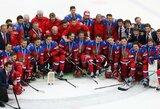 Neliko tuščiomis: mažajame finale dominavę Rusijos ledo ritulininkai iškovojo pasaulio čempionato bronzą