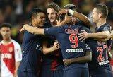"""E.Cavani pelnė """"hat-tricką"""", o PSG sutriuškino T.Henry vadovaujamą komandą"""