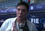 Lietuvos pilietybę gavęs pasaulio fechtavimo čempionas iš Rusijos pirmą kartą atstovavo mūsų šaliai planetos pirmenybėse