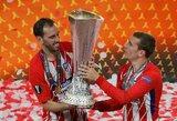 """D.Simeone: """"Tikiuosi, kad A.Griezmannas yra laimingas Madride"""""""
