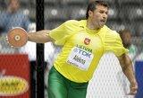 V.Alekna ir Z.Sendriūtė disko metikų varžybose Olandijoje užėmė antrąsias vietas