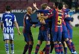 """Pirmąjį rungtynių įvartį praleidusi """"Barcelona"""" įveikė """"Real Sociedad"""""""