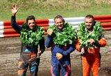 Vilkyčiuose – Europos autokroso čempionato etapo nugalėtojų ir prizininkų triumfas