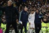 Z.Zidane'as nerimauja dėl E.Hazardo patirtos traumos