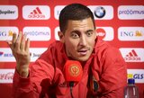 """E.Hazardas mato Belgiją tarp pretendentų laimėti EURO2020: """"Dabar mes esame stipresni"""""""