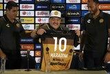 Meksikoje pristatytas D.Maradona prakalbo apie priklausomybę kokainui, jį išgelbėjusias dukras ir naujus tikslus