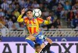 """Dramatišką pergalę prieš """"Real Sociedad"""" komandą iškovojusi """"Valencia"""" turnyrinėje lentelėje aplenkė """"Real"""" ekipą"""