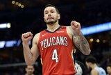 """""""Pelicans"""" snaiperis atskleidė NBA siūlomą sezono pratęsimo formatą"""