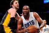 """""""Lakers"""" suklupo Šarlotėje ir pralaimėjo šeštą kartą iš eilės"""