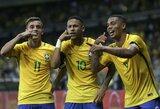 Brazilijos rinktinė sutriuškino Argentiną