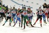 Lietuvos biatlono rinktinė pasaulio taurės estafetėje aplenkė tris komandas