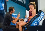 """Ukrainietė po """"US Open"""" turnyro atsisveikino su treneriu: supyko dėl jo žinutės """"twitter"""" tinkle"""