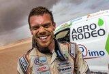 """Be atsarginių ratų į finišą atvažiavęs V.Žala: """"Nei ant savęs pykti gali, nei ant kažko kito – toks jau tas Dakaras"""""""