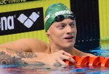 Paskutinę plaukimo varžybų Italijoje dieną dėl medalių kovos keturi lietuviai