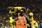 Prancūzija iššvaistė dviejų įvarčių persvarą ir nusileido Kolumbijai