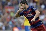"""Barcelona"" klubo pergalę lėmė L.Suarezo dublis"