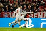 """Čempionų lyga: du įvarčius pelnęs S.Mane paskandino """"Bayern"""" ir išvedė """"Liverpool"""" į ketvirtfinalį"""