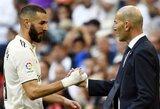 """Z.Zidane'as apie puikią formą demonstruojantį K.Benzemą: """"Jis visada buvo labai svarbus komandai"""""""