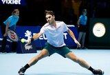 Klaidų beveik išvengęs R.Federeris palaužė A.Zverevą