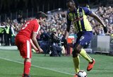 Greičiausias pasaulio žmogus U.Boltas debiutavo profesionaliame futbole