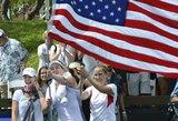 Skandalas: amerikiečiai Vokietijos teniso rinktinei sugiedojo nacių laikų himną