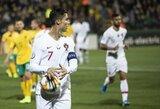 Keturi C.Ronaldo įvarčiai prieš Lietuvą: vieni leipsta juokais, kiti diskutuoja, ar Lietuva – egzistuojanti valstybė?