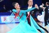 Europos standartinių šokių čempionate V.Lacitis ir V.Golodneva užėmė šeštą vietą