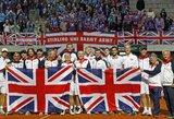 Britai išplėšė pergalę prieš serbus ir Daviso taurės pasaulio grupės pusfinalyje susikaus su Argentina