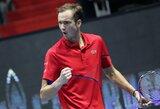 Fantastišką sezoną tęsiantis D.Medvedevas triumfavo Sankt Peterburge