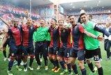 """Derbio dvikovoje """"Genoa"""" svečiuose sutriuškino """"Sampdoria"""", """"Frosinone"""" iškrito iš """"Serie A"""" lygos"""
