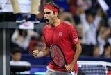 ATP 1000 turnyras prarado dar vieną favoritą: R.Federerio stebuklų antrajame sete neužteko
