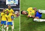 Pamatykite: po dešimties mėnesių pertraukos Neymaras pelnė įvartį Brazilijos rinktinėje