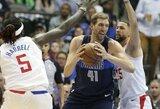 """D.Nowitzki šaudė tritaškius, o """"Mavericks"""" sumindė """"Clippers"""" klubą"""