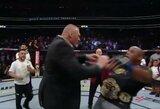 B.Lesnaras įsiveržė į narvą ir pastūmė D.Cormier, UFC žada suorganizuoti jų kovą