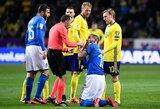 """L.Bonucci apie rungtynes su Švedija: """"O.Toivonenas man sulaužė nosį"""""""
