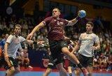 Debiutantų dvikovą pralaimėję latviai – ant prarajos ribos Europos rankinio čempionate
